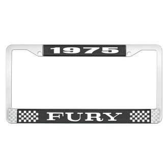 OER® - License Plate Frame with White 1975 Fury Logo