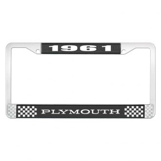 OER® - License Plate Frame with White 1961 Plymouth Logo