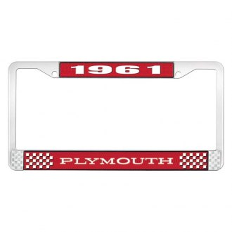 OER® - 1961 Plymouth Logo on Red License Frame