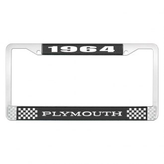 OER® - License Plate Frame with White 1964 Plymouth Logo