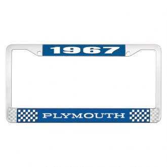OER® - License Plate Frame with White 1967 Plymouth Logo