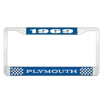 OER® - License Plate Frame with White 1969 Plymouth Logo