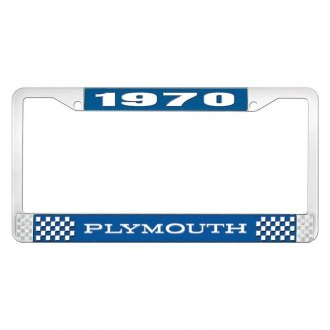 OER® - 1970 Plymouth Logo on Blue License Frame