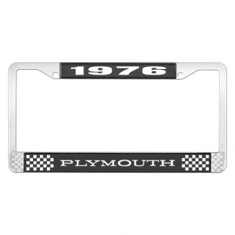 OER® - License Plate Frame with White 1976 Plymouth Logo