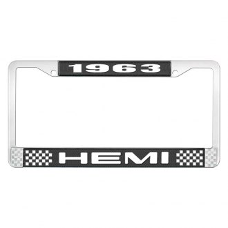 OER® - License Plate Frame with White 1963 HEMI Logo