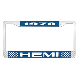 OER® - License Plate Frame with White 1970 HEMI Logo