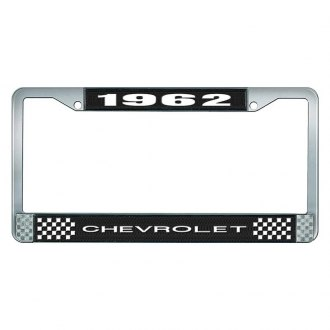 OER® - License Plate Frame with White 1962 Chevrolet Logo