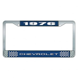 OER® - License Plate Frame with White 1976 Chevrolet Logo