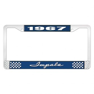 OER® - License Plate Frame with White 1967 Impala Logo
