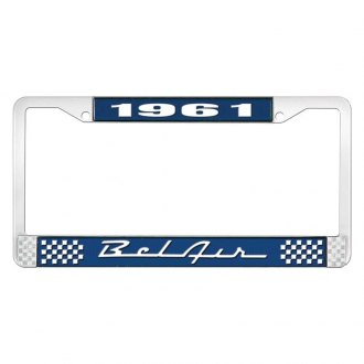 OER® - License Plate Frame with White 1961 Bel Air Logo