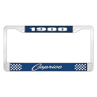 OER® - License Plate Frame with Style 1 1988 Caprice Logo