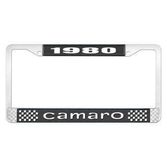 OER® - License Plate Frame with White 1980 Camaro Logo