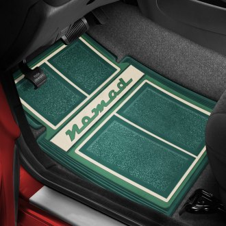 OER® - 1st & 2nd Row Carpet Dark Green/Green/Ivory Floor Mats with Nomad Script Logo