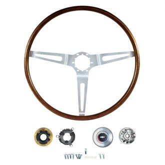 OER® - 3 Spokes Steering Wheel Kit with Rosewood Grip