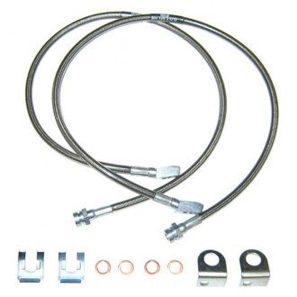 Off Road Unlimited® - Steel Braided Front Brake Line with Solid Axle Conversion Kit