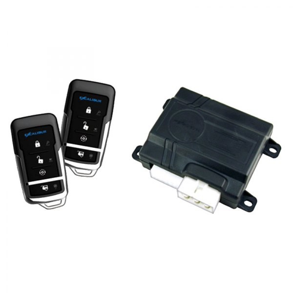 Omega R&D® - Excalibur™ Deluxe 4-Button Keyless Entry and Remote Start System with Virtual Alarm Technology with Blade