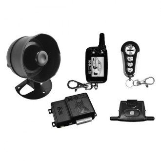 Omega R&D® - K9 2-Way Vehicle Security and Keyless Entry System with One 4-Button and One LCD Remote