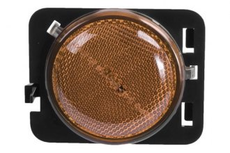 Omix-Ada® 12401.25 - Driver Side Replacement Side Marker Light, Amber