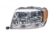 Omix-Ada® - Chrome Replacement Headlight (Left)