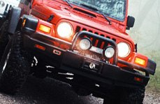 Omix-Ada® - Front Tube Bumper on Jeep Wrangler