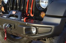Omix-Ada® - Front Bumper With Winch Hook