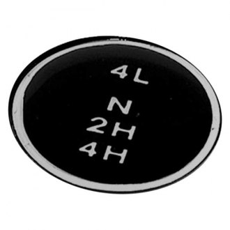 Omix-ADA® - Automatic Black Insert Shift Knob Pattern