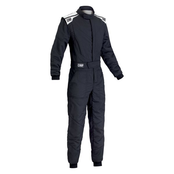 OMP® - First-S 2017 Series Racing Suit, 52 Size, Black