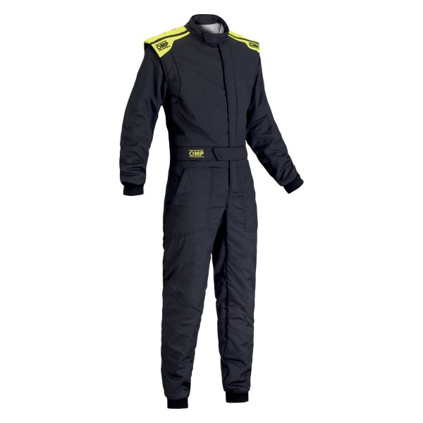 OMP® - First-S 2017 Series Racing Suit, 58 Size, Anthracite with Yellow