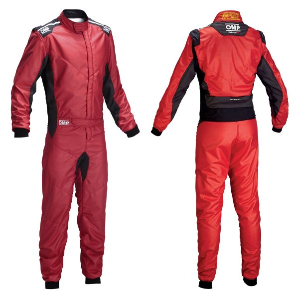 OMP® - One-S 2016 Series Racing Suit, 58 Size, Red