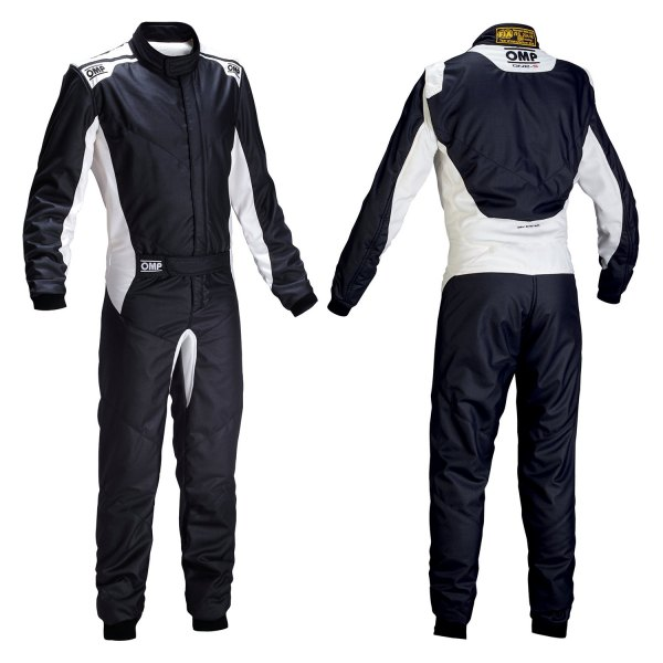 OMP® - One-S 2016 Series Racing Suit, 52 Size, Black
