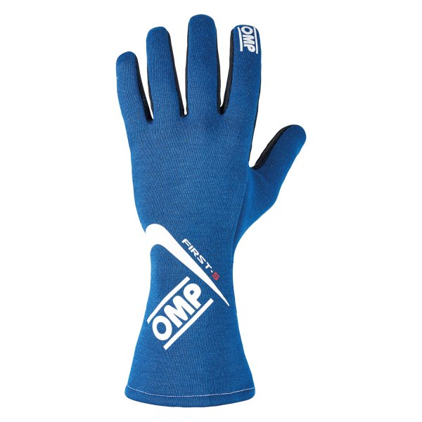 OMP® - First S 2016 Series Racing Gloves, XL Size, Blue