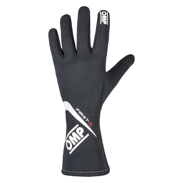 OMP® - First S 2016 Series Racing Gloves, M Size, Black
