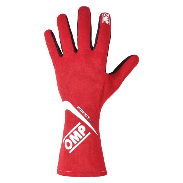 OMP® - First S 2016 Series Racing Gloves, SX Size, Red