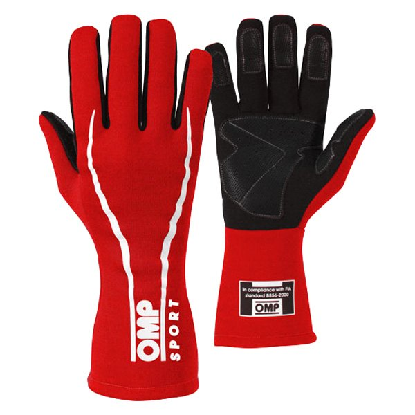 OMP® - OS 60 Series Racing Gloves, S Size, Red