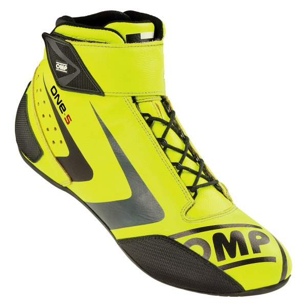 OMP® - One-S 2016 Series Driving Shoes, 47 Size, Fluo Yellow with Anthracive