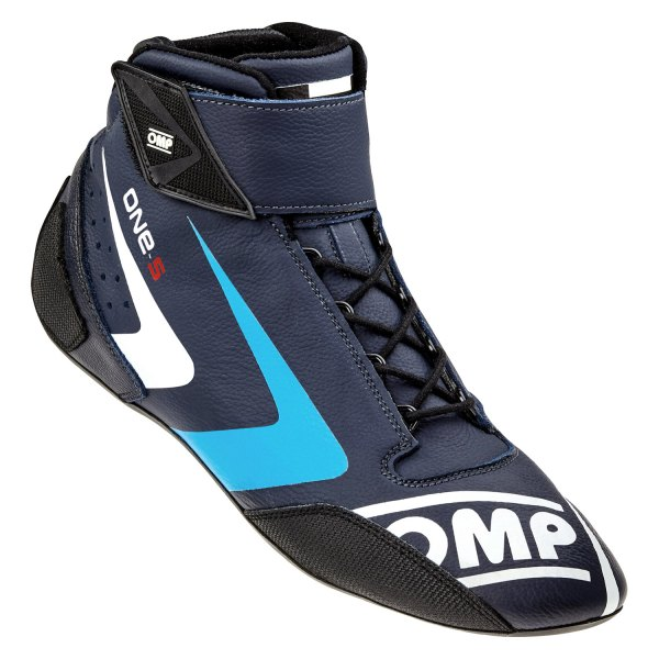 OMP® - One-S 2016 Series Driving Shoes, 42 Size, Navy Blue with Cyan