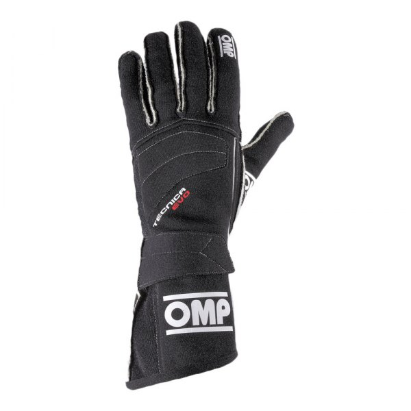 OMP® - Technica EVO Series Racing Gloves, S Size, Black