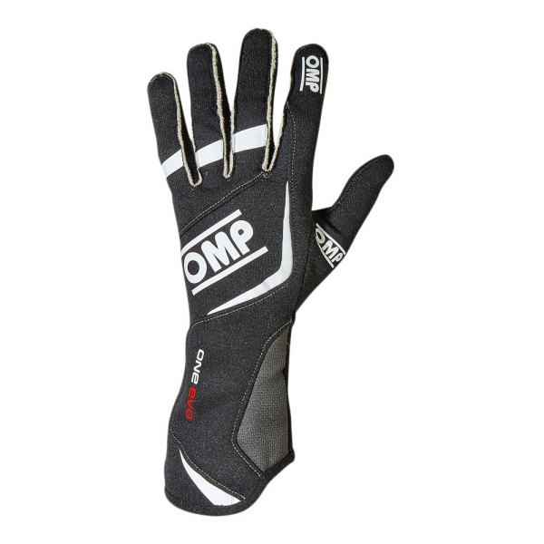 OMP® - One EVO 2015 Series Racing Gloves, L Size, Black