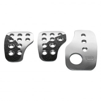 OMP® - 60x105mm Silver Anodized Aluminium Short Racing Pedal Set