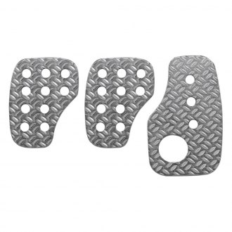 OMP® - 60x100mm Rally Knurled Aluminum Short Racing Pedal Set