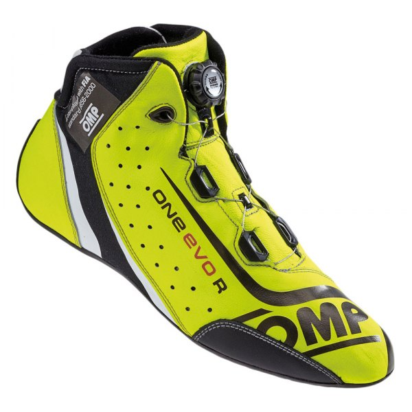 OMP® - One EVO R Series Driving Shoes, 48 Size, Fluo Yellow