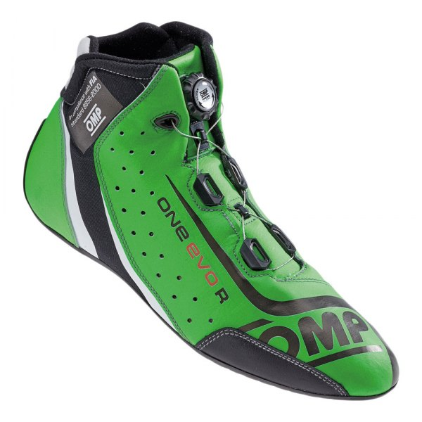 OMP® - One EVO R Series Driving Shoes, 46 Size, Fluo Green