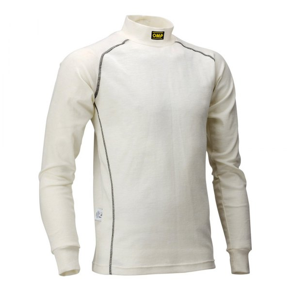 OMP® - Classic Series Racing Undershirt, S Size, Cream