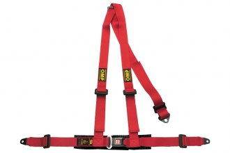 "OMP® - 3 Points Road 3 Series Street Racing Harnesses, Not Rated (Central Push Button, Bolt In, 2""-2"")"