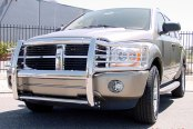 Image may not reflect your exact vehicle! Onki® - Full Polished Stainless Steel Grille Guard, Installed