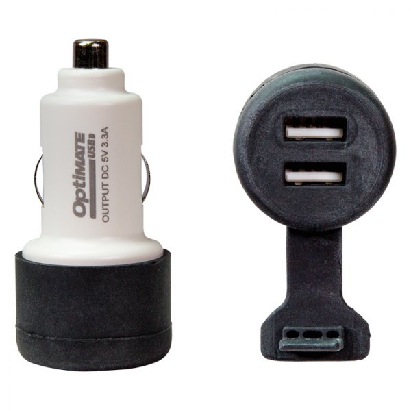 3300mA dual output USB charger with AUTO plug. OptiMATE USB O-106