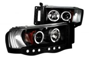 Option-R® - Black Halo Projector Headlights with LEDs - 1500