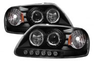 Option-R® - Black Halo Projector Headlights with LEDs