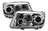Option-R® - Chrome Halo Projector Headlights with LEDs