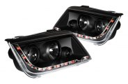 Option-R® - Black Projector Headlights with LEDs